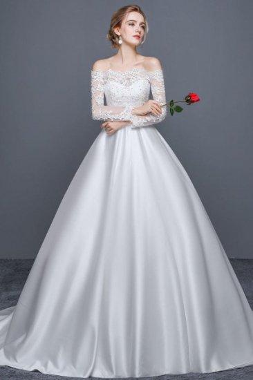 長袖 ウエディング ドレス