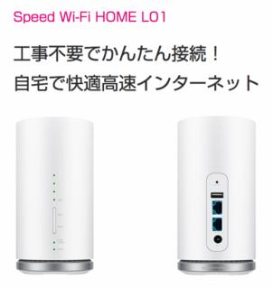 【国内専用】Speed Wi-Fi HOME L01<img class='new_mark_img2' src='https://img.shop-pro.jp/img/new/icons17.gif' style='border:none;display:inline;margin:0px;padding:0px;width:auto;' />