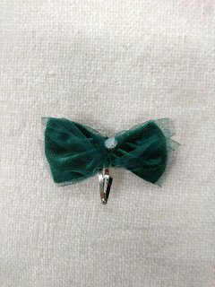 HAPPYOLOGY  ESLA BOW HAIR GRIP-EMERALD