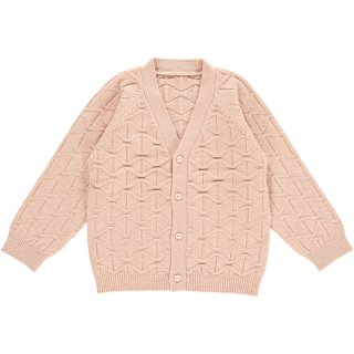HAPPYOLOGY  ABBOTT CARDIGAN, DUSTY ROSE