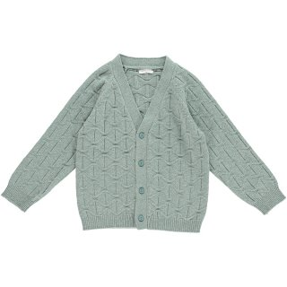 HAPPYOLOGY  ABBOTT CARDIGAN, DUSTY MINT
