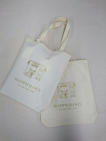 HAPPYOLOGY Canvas Cotton Tote Bag