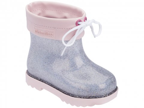 <img class='new_mark_img1' src='https://img.shop-pro.jp/img/new/icons22.gif' style='border:none;display:inline;margin:0px;padding:0px;width:auto;' />【20%OFF】Melissa  Mini Melissa Rain Boot-PINK SILVER