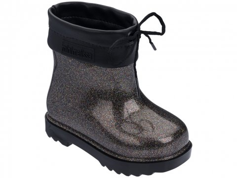<img class='new_mark_img1' src='https://img.shop-pro.jp/img/new/icons22.gif' style='border:none;display:inline;margin:0px;padding:0px;width:auto;' />【20%OFF】Melissa  Mini Melissa Rain Boot-BLACK BROWN