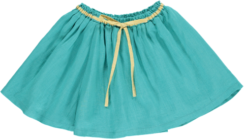 <img class='new_mark_img1' src='https://img.shop-pro.jp/img/new/icons22.gif' style='border:none;display:inline;margin:0px;padding:0px;width:auto;' />【50%OFF】HAPPYOLOGY  EVELYN SKIRT, TEAL 4-5Y,6-7Y,8-9Y