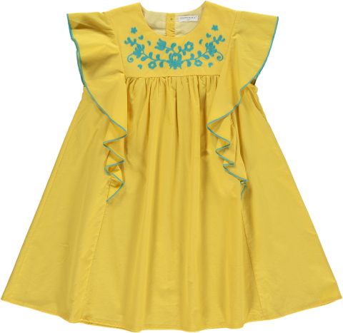 <img class='new_mark_img1' src='https://img.shop-pro.jp/img/new/icons22.gif' style='border:none;display:inline;margin:0px;padding:0px;width:auto;' />【30%OFF】HAPPYOLOGY  KEA DRESS, YELLOW 4-5Y,6-7Y,8-9Y