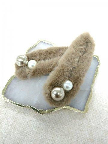 JOVONNA Fur&Pearl barretta