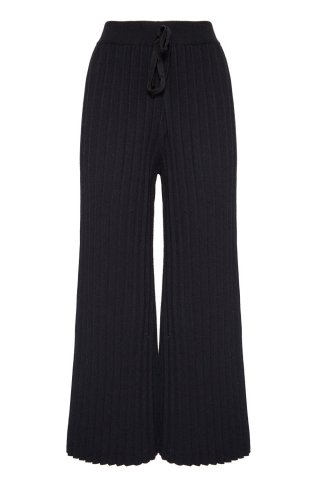 <img class='new_mark_img1' src='https://img.shop-pro.jp/img/new/icons5.gif' style='border:none;display:inline;margin:0px;padding:0px;width:auto;' />JOVONNA 2019AW Harper Knitted Trouser-Black