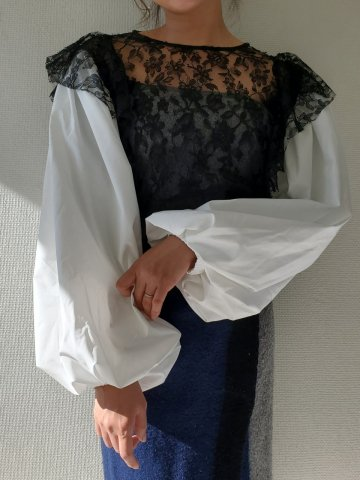 <img class='new_mark_img1' src='https://img.shop-pro.jp/img/new/icons22.gif' style='border:none;display:inline;margin:0px;padding:0px;width:auto;' />【20%OFF】GHOSPELL Payday Lace Blouse