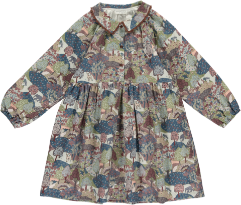 <img class='new_mark_img1' src='https://img.shop-pro.jp/img/new/icons5.gif' style='border:none;display:inline;margin:0px;padding:0px;width:auto;' />HAPPYOLOGY Tessa Dress, Khaki Forest 4~8Y