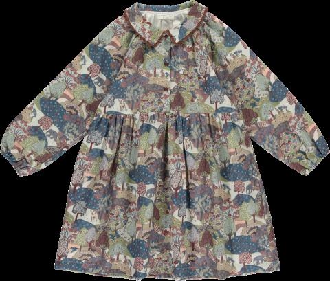 HAPPYOLOGY Tessa Dress, Khaki Forest 4~8Y