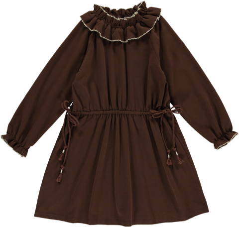 HAPPYOLOGY Birdie Organic Cotton Dress, Coca 4~8Y