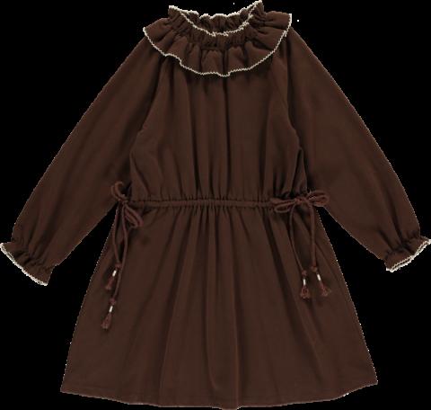 HAPPYOLOGY Birdie Organic Cotton Dress, Coca