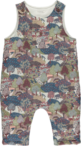 <img class='new_mark_img1' src='https://img.shop-pro.jp/img/new/icons5.gif' style='border:none;display:inline;margin:0px;padding:0px;width:auto;' />HAPPYOLOGY Frida Padded Dungaree, Khaki Forest 0~18M,2Y