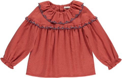 <img class='new_mark_img1' src='https://img.shop-pro.jp/img/new/icons5.gif' style='border:none;display:inline;margin:0px;padding:0px;width:auto;' />HAPPYOLOGY Alyssa Blouse, Rosetta 4~8Y