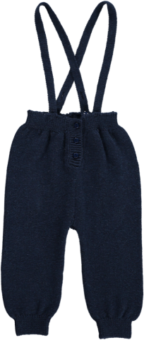 <img class='new_mark_img1' src='https://img.shop-pro.jp/img/new/icons60.gif' style='border:none;display:inline;margin:0px;padding:0px;width:auto;' />HAPPYOLOGY Jay Knitted Dungarees, Navy 6~12M
