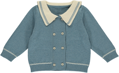 <img class='new_mark_img1' src='https://img.shop-pro.jp/img/new/icons5.gif' style='border:none;display:inline;margin:0px;padding:0px;width:auto;' />HAPPYOLOGY Juno Cardigan, Bluish 6~18M,2~3Y