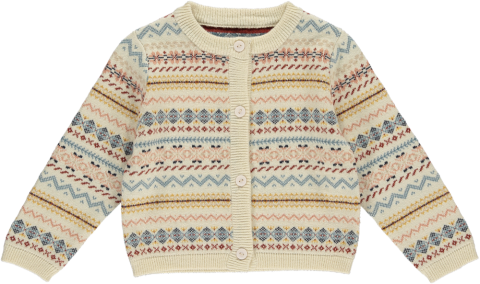 <img class='new_mark_img1' src='https://img.shop-pro.jp/img/new/icons5.gif' style='border:none;display:inline;margin:0px;padding:0px;width:auto;' />HAPPYOLOGY Bert Baby Cardigan, Fair Isle Sunrise 6~18M,2~3Y