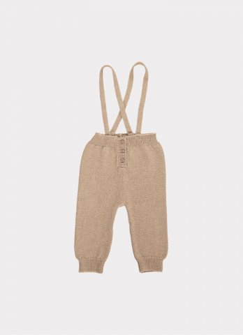 <img class='new_mark_img1' src='https://img.shop-pro.jp/img/new/icons5.gif' style='border:none;display:inline;margin:0px;padding:0px;width:auto;' />HAPPYOLOGY Jay Knitted Dungarees, Sand 0~12M