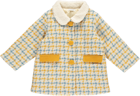 HAPPYOLOGY Aubree Baby Coat, Lollipop