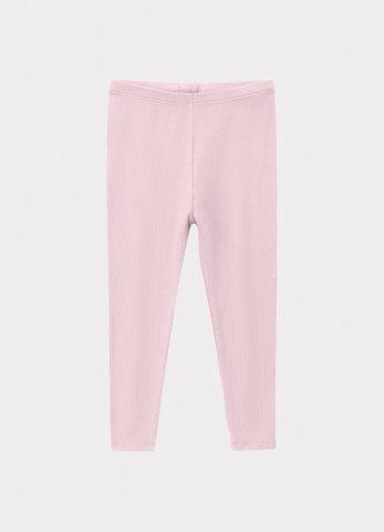 HAPPYOLOGY Baby Ribbed Organic Cotton Jersey Leggings, Lilac