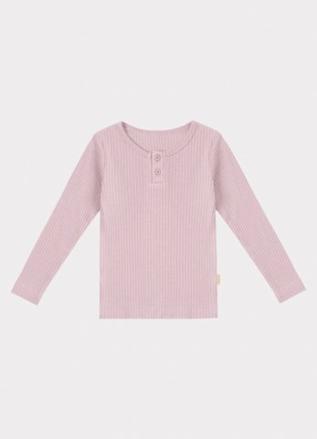 <img class='new_mark_img1' src='https://img.shop-pro.jp/img/new/icons5.gif' style='border:none;display:inline;margin:0px;padding:0px;width:auto;' />HAPPYOLOGY Ribbed Organic Cotton Jersey Long-sleeve Top, Lilac