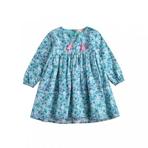 Louise Misha Baby Felizita Dress, Emerald Flowers
