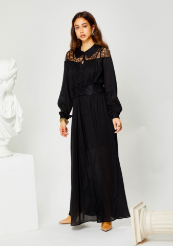 GHOSPELL Heritage Laced Maxi Dress