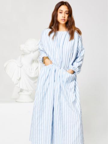 GHOSPELL Relic StripePocket Midi dress