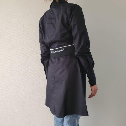 WHYTE STUDIO THE'DUTY'SHIRT DRESS, Black