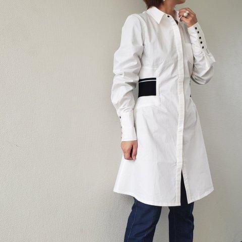 WHYTE STUDIO THE'DUTY'SHIRT DRESS, White