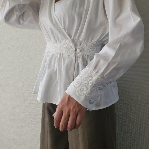 JOVONNA Vivienne Blouse-WHITE