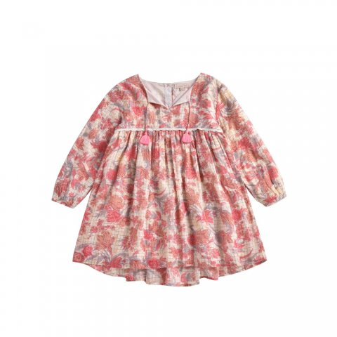 Louise Misha Kids Felizita Dress, Pink Flowers