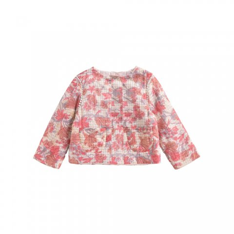 Louise Misha Kids  Soluta Jacket, Pink Flowers