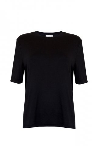 JOVONNA Lofty T-shirts-BLACK