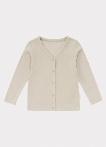 <img class='new_mark_img1' src='https://img.shop-pro.jp/img/new/icons5.gif' style='border:none;display:inline;margin:0px;padding:0px;width:auto;' />HAPPYOLOGY Kids Ribbed Organic Cotton Jersey Cardigan, Baby Grey