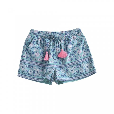 Louise Misha Baby Vallaloid Shorts, Emerald Flower