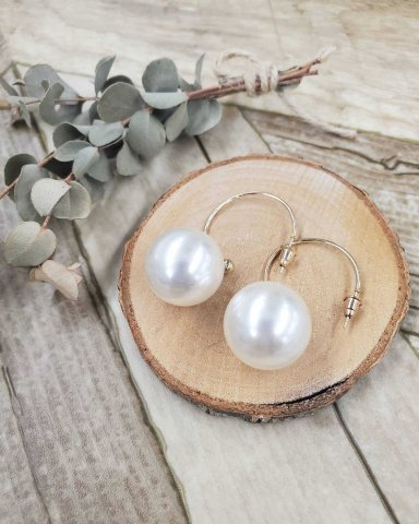 【ピアス】JOVONNA Jumbo Pearl Earrings