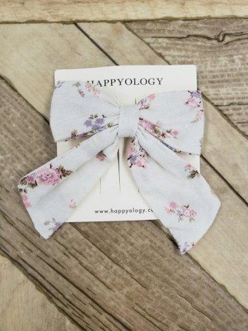 HAPPYOLOGY  Perrie Hair Bow, Violet Floral