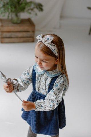 HAPPYOLOGY Baby Tilbury Blouse, Wild Bluebell