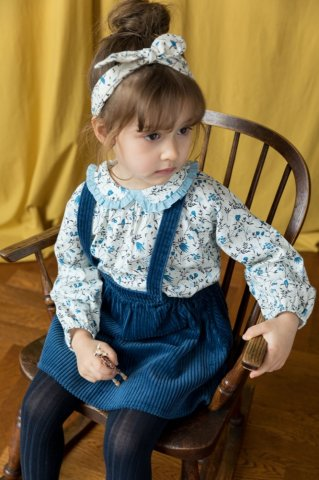 【ブラウス】HAPPYOLOGY Kids Tilbury Blouse, Wild Bluebell