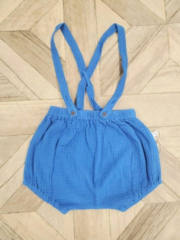 【ボトムス】HAPPYOLOGY Harley Dungaree Shorts, Blue