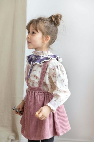 【スカート】HAPPYOLOGY Orla Pinafore Skirt, Blush