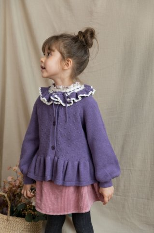 【カーディガン】HAPPYOLOGY Kids Novington Cardigan, Purple Twilight