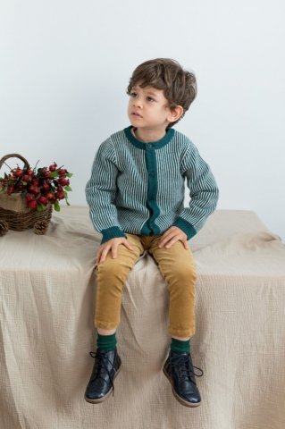 【カーディガン】HAPPYOLOGY Kids Meredith Cardigan, Emerald