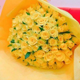 [本数指定] イエローローズ バラ花束 黄色 単品