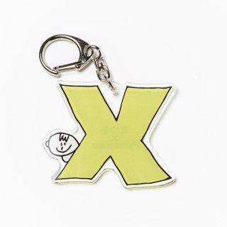 たつを画伯 アルファベットキーホルダー「X」 ■たつをSHOP■