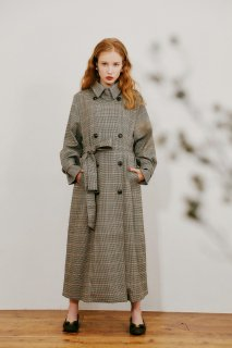 Hound's Tooth trench coat