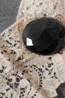 1 bouton verre noir