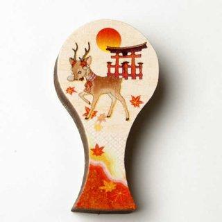 マグネット鳥居と鹿(もみじ)